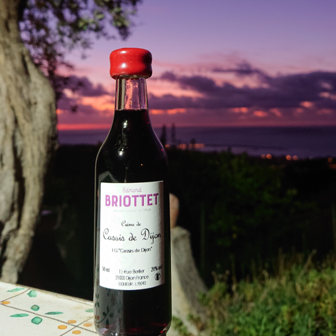 La Crème de Cassis de Dijon Briottet a Sant'agatha di militello