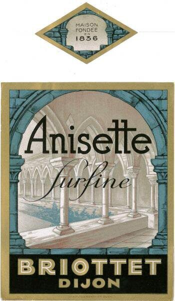 etiquette anisette briottet