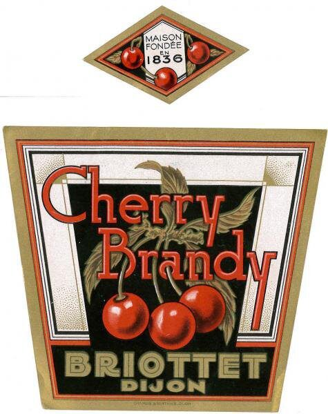 etiquette cherry brandy Briottet
