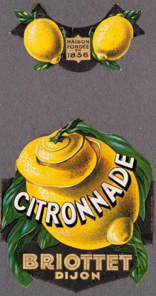 etiquette citronnade briottet
