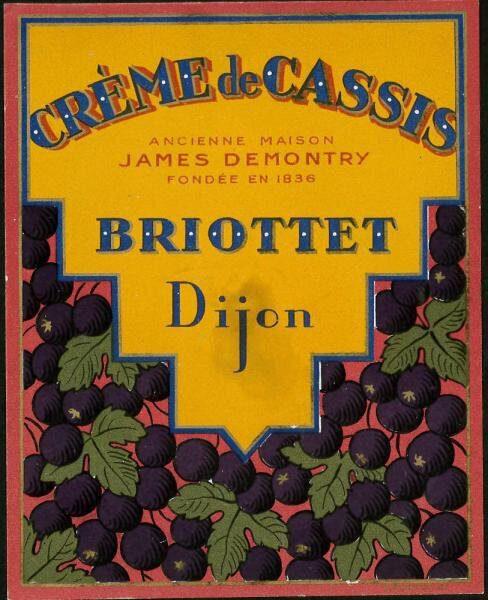 etiquette creme de cassis briottet 2
