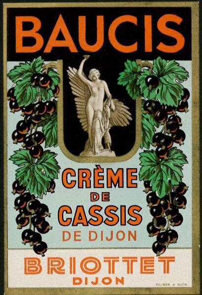 etiquette creme de cassis briottet 6