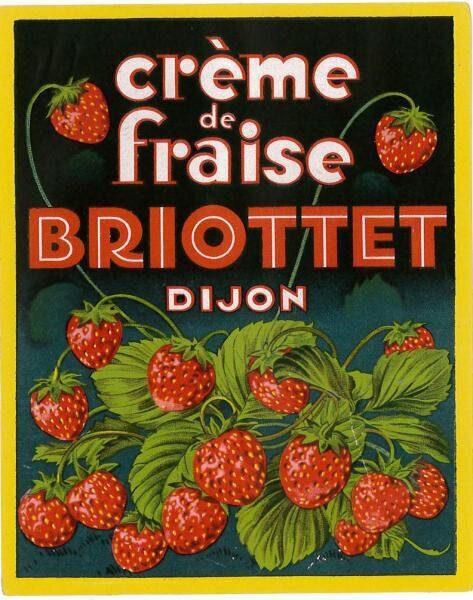 etiquette creme de fraise briottet 2