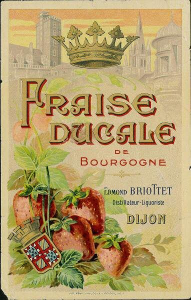 etiquette fraise ducale briottet