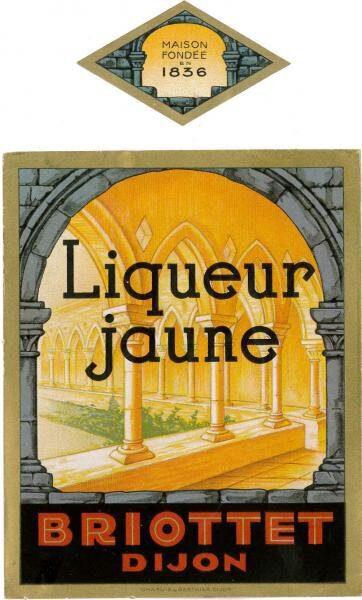 etiquette liqueur jaune briottet