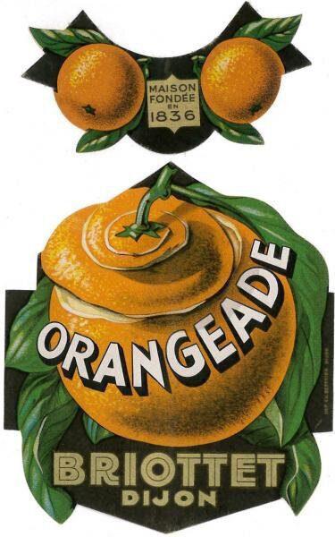 etiquette orangeade briottet