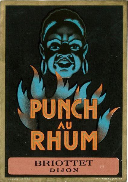 etiquette punch rhum briottet