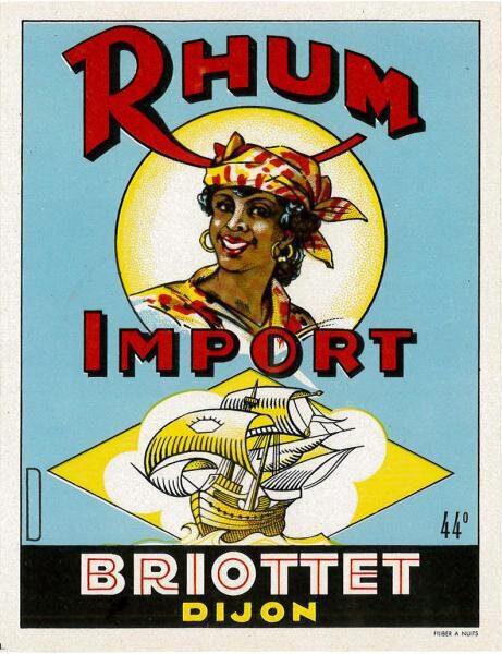 etiquette rhum import briottet