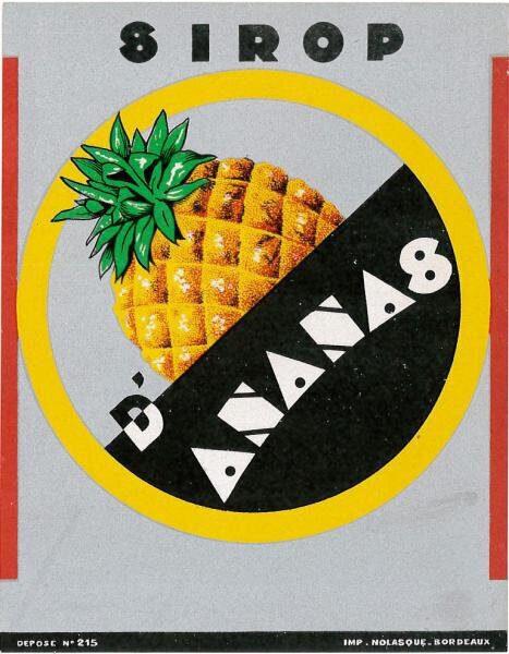 etiquette sirop ananas briottet