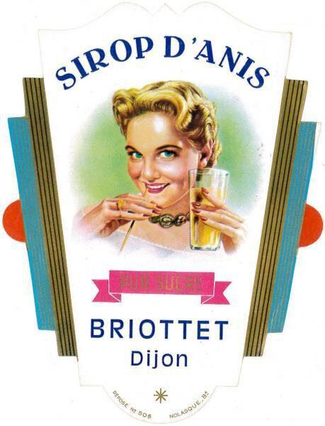etiquette sirop anis briottet
