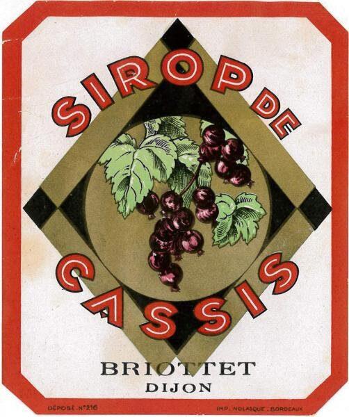 etiquette sirop cassis briottet