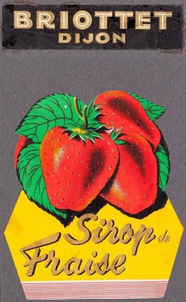 etiquette sirop fraise briottet