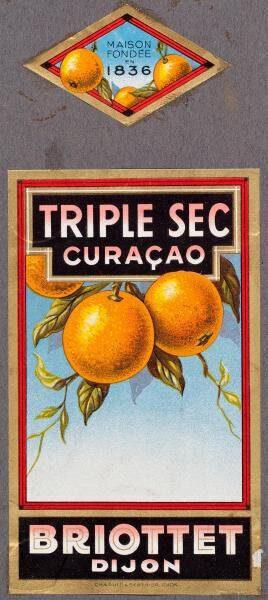 etiquette triple sec curacao briottet