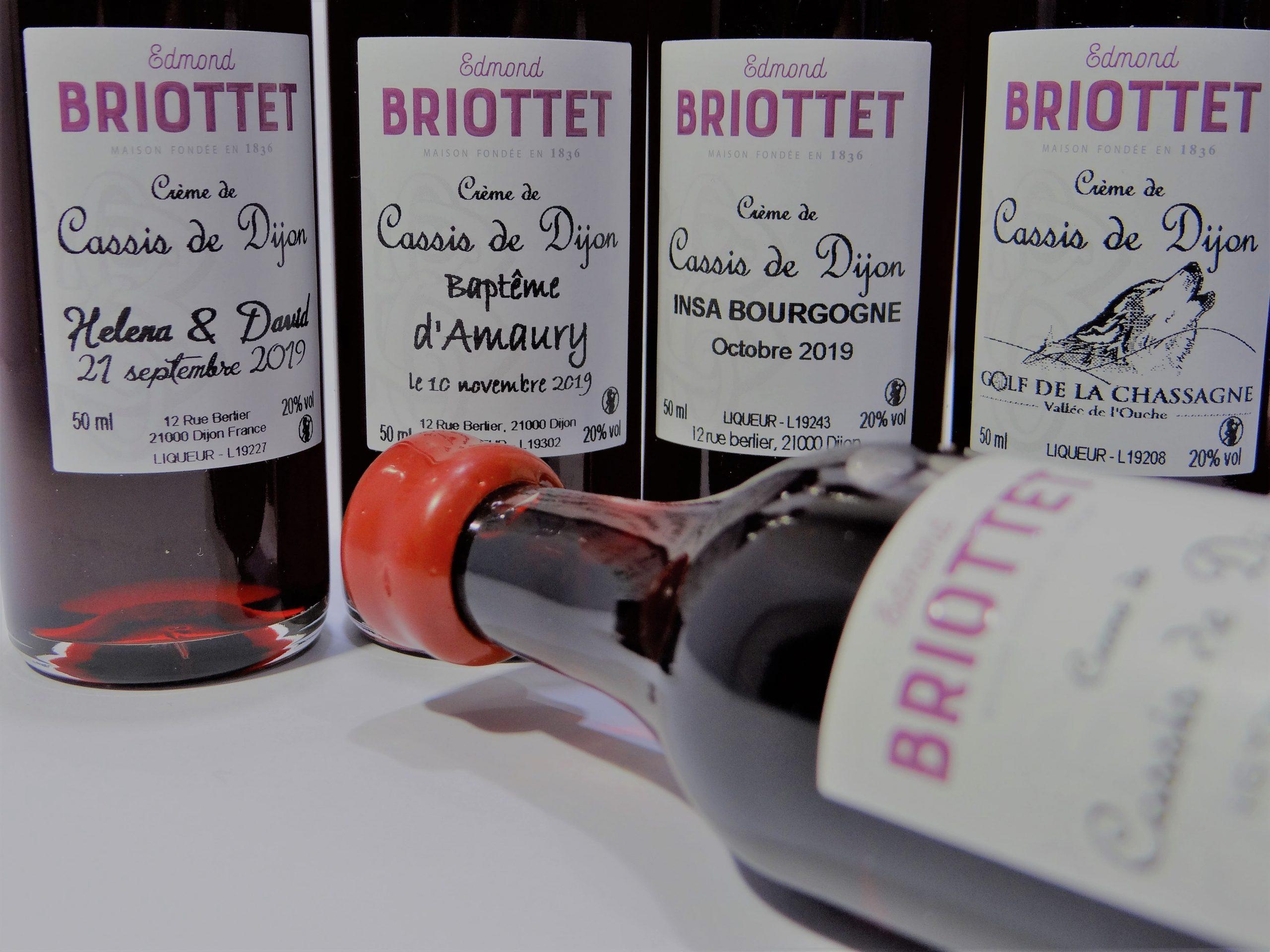 Briottet Etiquette personnalisee carafe