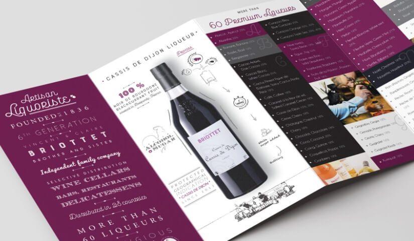 Catalogue de la gamme de liqueurs Briottet