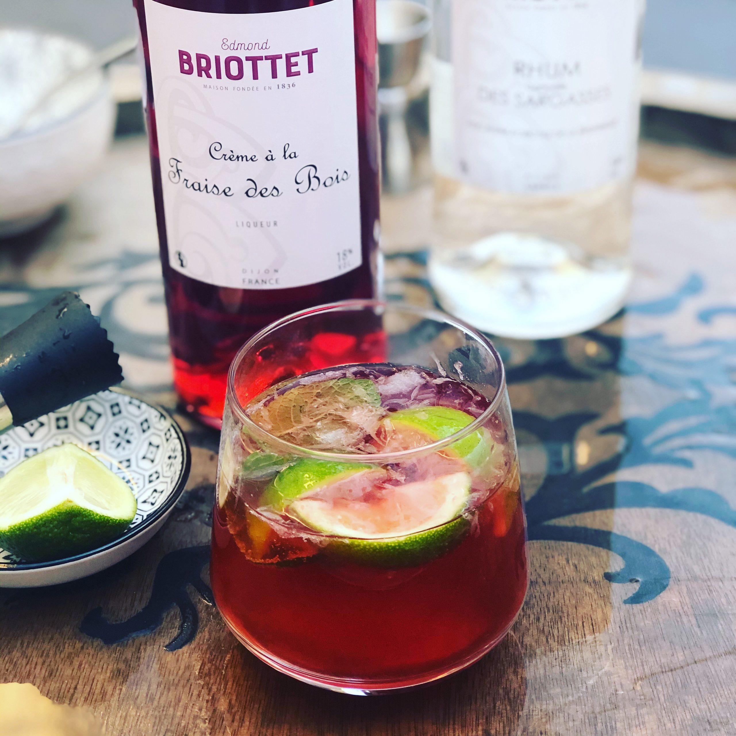 Mojito fraise des bois Briottet
