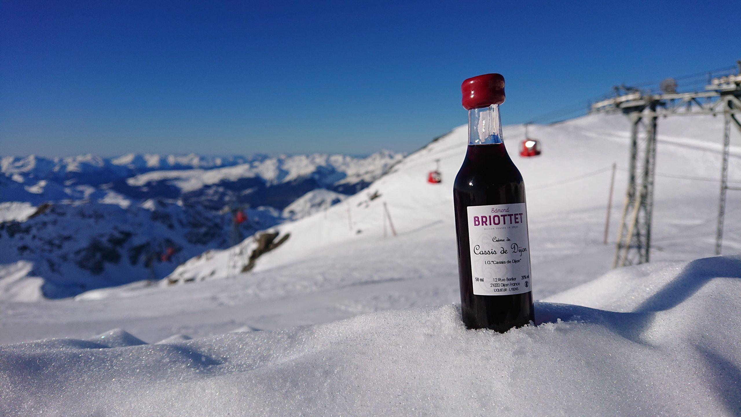 La Crème de Cassis de Dijon Briottet au Glacier de la Chiaupe