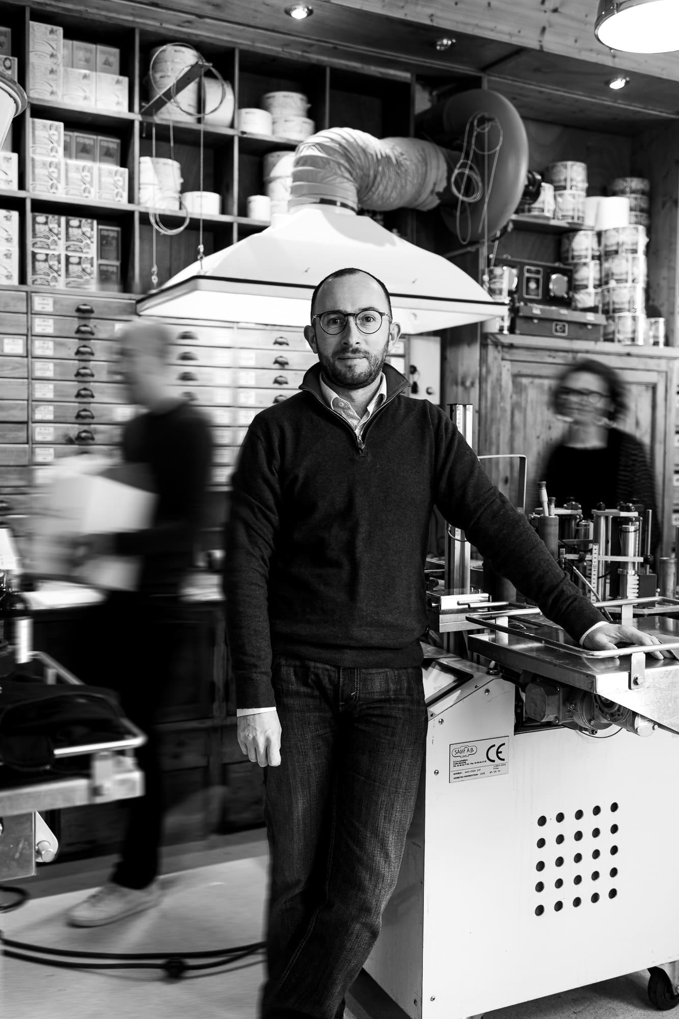 Vincent Briottet dans l'atelier de la Maison Briottet